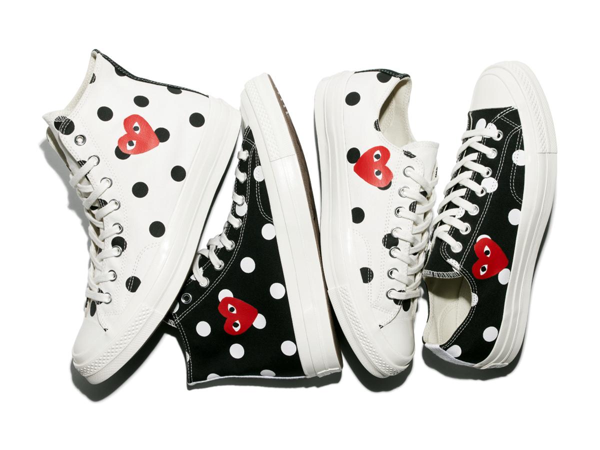 cdg play converse polka dots